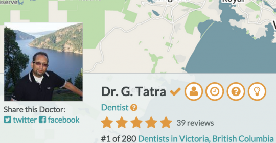 Dr. Sunny Tatra Rated #1 on RateMDs.com
