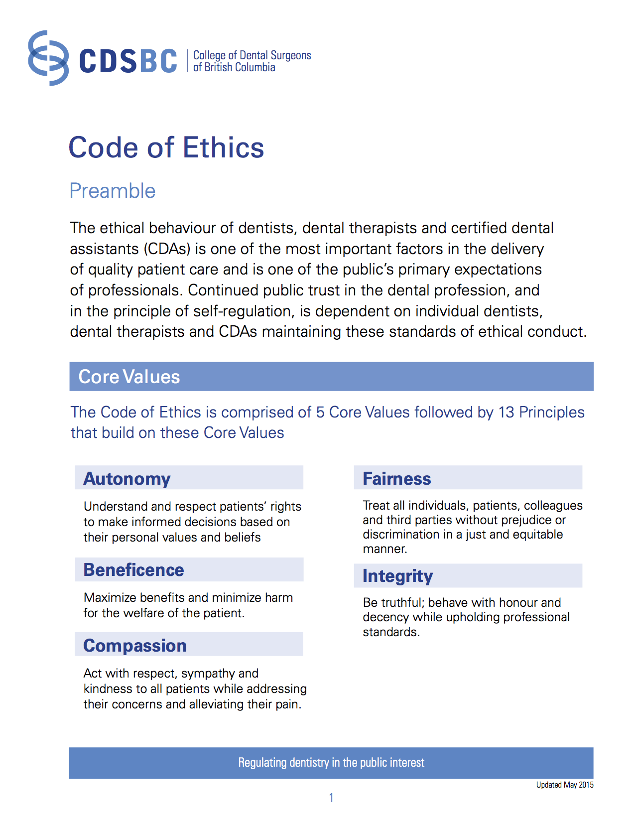 A Code of Ethics for People Working with Children and Young People